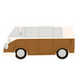 retro van can traveling on pickup caravan vector image vector image