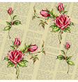 rose pattern on newspaper vector image vector image