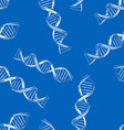 Seamless background with the sketch DNA vector image vector image