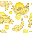 seamless pattern with yellow bananas vector image