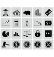 set finance icons vector image