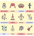Set of linear icons in a modern flat vector image