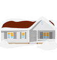 Snow house vector image vector image