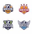 soccer football logo badge vector image vector image