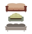 Sofas Set Flat vector image vector image