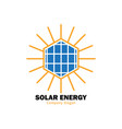 solar energy logo vector image vector image