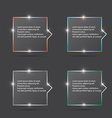 speech box with spark vector image