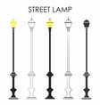 street classic lamp vector image vector image