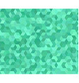 Teal 3d cube mosaic pattern background vector image vector image
