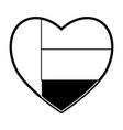 united arab emirates heart shape flag vector image
