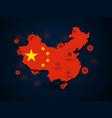 virus around china vector image
