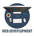 web development flat design web vector image