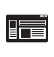 web page interface icon vector image vector image