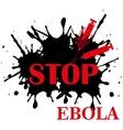 Ebola virus stop vector image