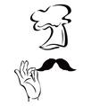 chef symbol vector image