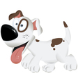 Cute funny dog playful dog cartoon dog dog vector image