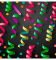 Party design template with streamers and confetti vector image