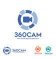 360 degree view camera logo vector image vector image
