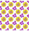 Abstract geometric colorful seamless pattern on vector image