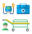 ambulance medicine health emergency vector image vector image