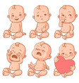 baby emotions set vector image