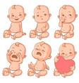 Baby emotions set