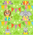 background seamless with animals vector image vector image