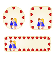 Banner and buttons Valentines day figure Kids vector image