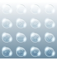 basic set transparent glass buttons vector image