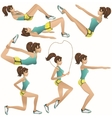 Beautiful girl making exercises vector image vector image