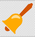 bell alarm icon in flat style bell jingle on vector image