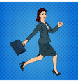 Business Woman Pop Art Banner Successful Woman vector image vector image