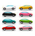 car icon colorful cars symbols set isolated on vector image vector image