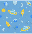 Cartoon flat kids space and cosmos science