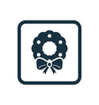christmas wreath icon rounded squares button vector image