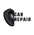 color vintage car repair emblem vector image vector image