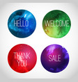 colored circles with space backgrounds hand drawn vector image vector image