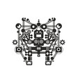 creative robot print for t-shirt stickers or wall vector image