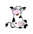 cute cartoon cow vector image