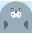 cute seal face background vector image vector image