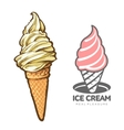 delicious ice cream logo vector image