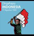 dirgahayu indonesia vector image vector image