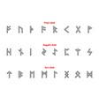 elder futhark runes vector image