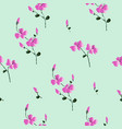 floral seamless pattern classic blooming leaves vector image vector image