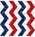 gold heart seamless pattern blue-red-white vector image vector image