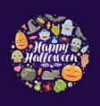 halloween concept holiday festival celebration vector image vector image