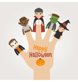 HalloweenNew2Finger monsters halloween vector image vector image