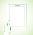 Hand Holding Tablet 2 vector image vector image