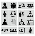Human resources and management icons vector image vector image