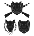 Hunting trophy boar set vector image vector image
